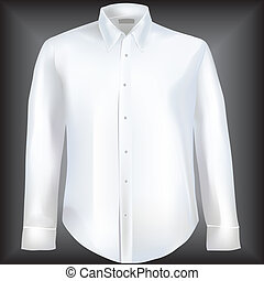 Formal shirt with button down collar and long sleeves. Mesh used.