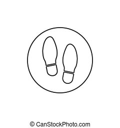 Shoe print icon. Vector illustration, flat design.