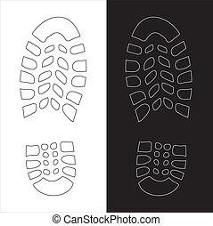 shoe print illustration
