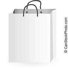 Iconic illustration of white shopping bag