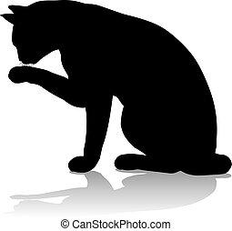 Silhouette Cat Pet Animal