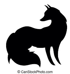 Silhouette of the fox