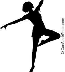 Silhouette dancer