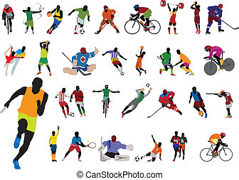 Silhouettes athlete. Vector set for you design