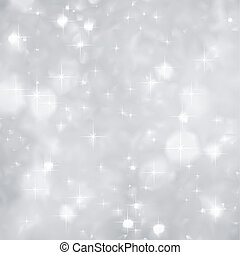 Festive silver background with a lot of sparkles