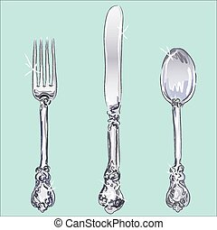 Silverware - fork, spoon, knife