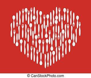 silverware heart