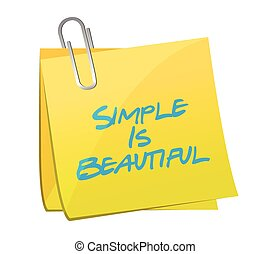 simple is beautiful post message illustration design over a white background