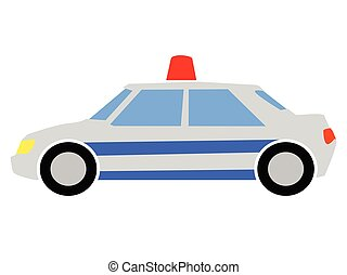 vector, colored illustration of a police car