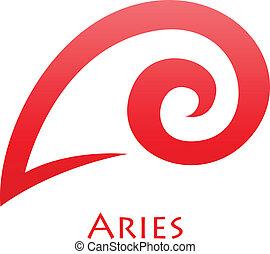 Simplistic Aries Zodiac Star Sign