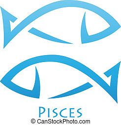 Simplistic Pisces Zodiac Star Sign