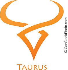 Simplistic Taurus Zodiac Star Sign