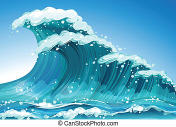 Illustration of a single wave