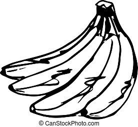Sketch of a delicious banana