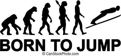 Ski jumping born to jump evolution