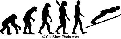 Ski jumping evolution