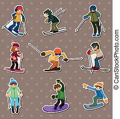 ski player stickers