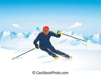 Skiing Slalom