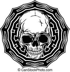 skull on pattern