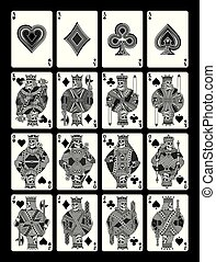 Skull Playing Cards Set in Black and White