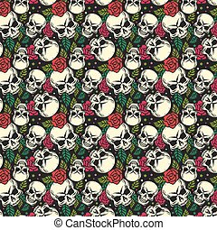 skull seamless pattern background wallpaper