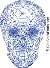 skull with geometric pattern, vecto
