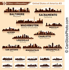 Skyline city set. 10 cities of USA #3