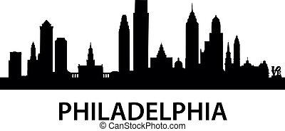 detailed illustration of Philadelphia, Pennsylvania