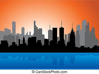 Skyline. Silhouette. Vector illustration for you design