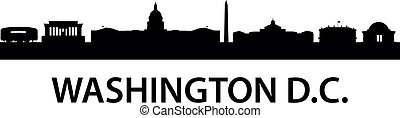 detailed silhouette of Washington D.C.