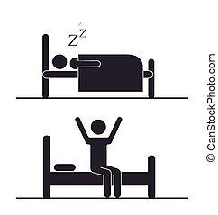 Sleep design over white background, vector illustration