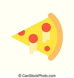 slice of pizza, food and gastronomy set, flat icon.