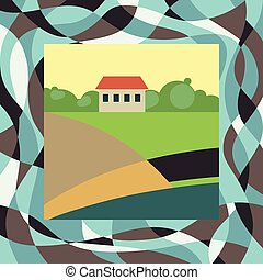 small farm house