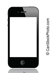 illustration of iphone 4, vector format.