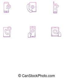 smartphone setting message , phone gradient icon