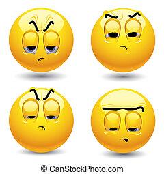 Smiling balls singing in choir