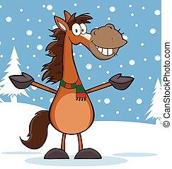 Horse Cartoon Mascot Character