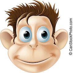 Smiling monkey illustration