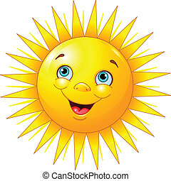 Illustration of smiling sun character
