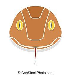 Snake head cartoon