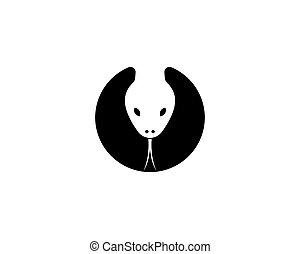 snake head logo template