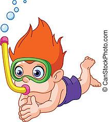 Snorkeling kid