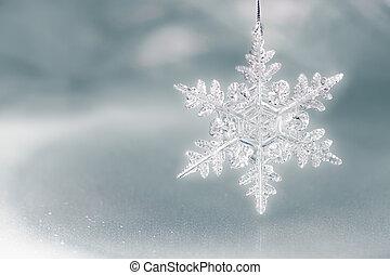 Snow Flake Holiday Background