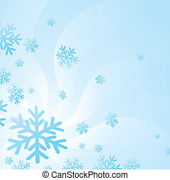 Background of hovering snow flakes in the winter season.