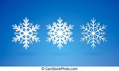 Scalable abstract winter decoration on blue background