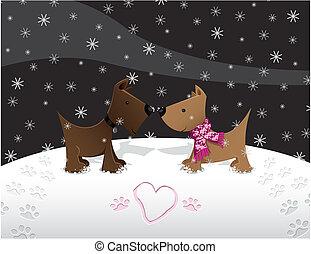Snow Puppy Love
