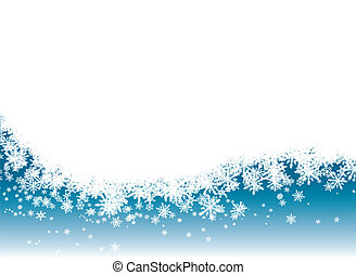 Snow flake background in blue with room for adding your own text