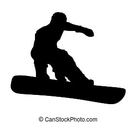 An abstract vector illustration of a snowboarder during a grab.