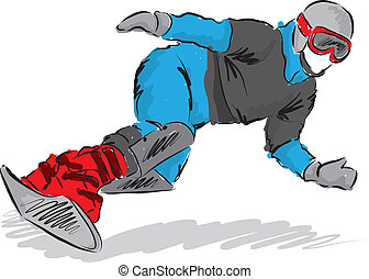 snowboarder illustration