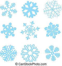 Snowflake winter set vector elements for design